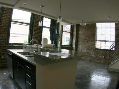 The Auction House kitchen island