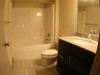 The Auction House Lofts bathroom